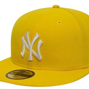 Καπέλο New Era Mlb Basic Neyyan Cyber Yel/Wht 10011614-YEL/WHT