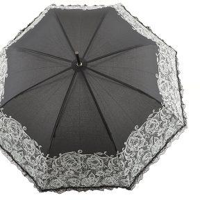 Ομπρέλα Emme Αυτόματη Με Δαντέλα M396C-BLACK