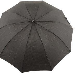 Ομπρέλα Clima M&P Αυτόματη Σπαστή Με Ξύλινο Χερούλι 236-BLACK-DOTS