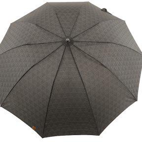 Ομπρέλα Clima M&P Αυτόματη Σπαστή Με Ξύλινο Χερούλι 236-BLACK-SQUARES