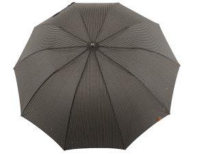 Ομπρέλα Clima M&P Αυτόματη Σπαστή Με Ξύλινο Χερούλι 236-BLACK-STRIPES