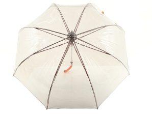 Ομπρέλα Clima Μ&P Αυτόματη Διάφανη Με Χρωματιστό Χερούλι 48002-BLACK-RED