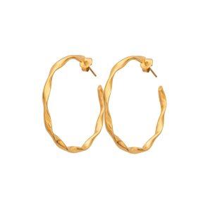 Σκουλαρίκια Κρίκοι Twisted Χρυσό