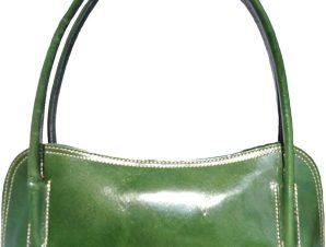 Δερμάτινη Τσάντα Ώμου Serafina Firenze Leather 6886 Σκουρο Πρασινο