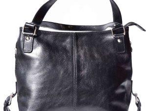 Δερματινη Τσαντα Ωμου Firenze Leather 6547 Μαύρο