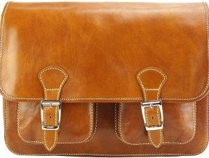 Δερματινη Τσαντα Ταχυδρομου Pamela Firenze Leather 7609 Μπεζ