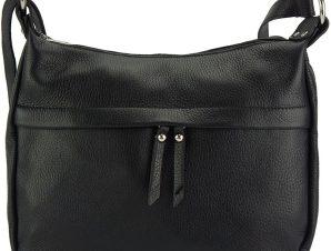 Δερμάτινη Τσάντα Ωμου Delizia Firenze Leather 9112 Μαύρο