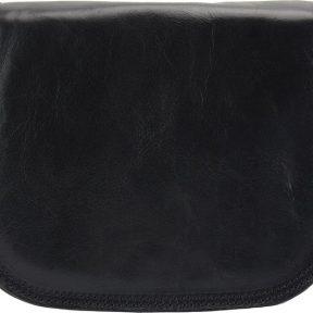 Δερμάτινη Τσάντα Ωμου Ines Firenze Leather 6568 Μαύρο