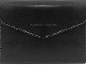 Γυναικείο Πορτοφόλι Δερμάτινο 140786 Μαύρο Tuscany Leather