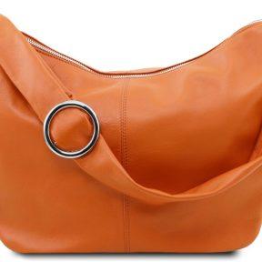 Γυναικεία Τσάντα Δερμάτινη Yvette Κονιάκ Tuscany Leather