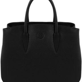 Γυναικεία Τσάντα Δερμάτινη Camelia Μαύρο Tuscany Leather