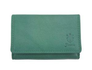 Δερμάτινο Πορτοφόλι Rina Firenze Leather PF060 Τυρκουάζ