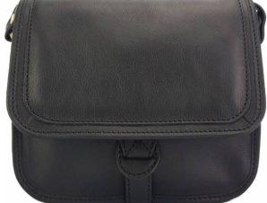 Δερμάτινο Τσαντάκι Ώμου Marilena Firenze Leather 7554 Μαύρο