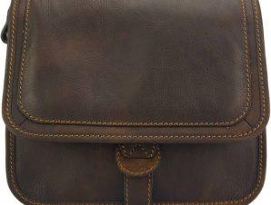 Δερμάτινο Τσαντάκι Ώμου Marilena Firenze Leather 7554 Σκούρο Καφέ