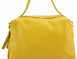 Δερμάτινη Τσάντα Χειρός Ilva Firenze Leather 9903 Κίτρινο