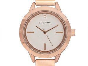 Ρολόι Loftys Saggita με ροζ χρυσό μπρασελέ