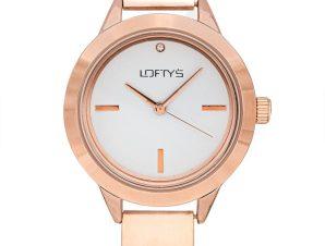 Ρολόι Loftys Saggita Ροζ Χρυσό Μπρασελέ – Λευκό Καντράν