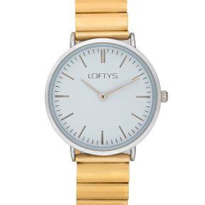 Ρολόι Loftys Corona Χρυσό Μπρασλέ Λευκό Καντράν Y2016-10