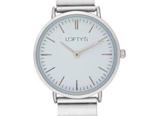 Ρολόι Loftys Corona Ασημί Μπρασελέ Λευκό Καντράν Y2016-21