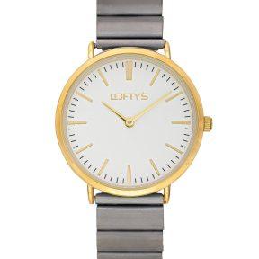 Ρολόι Loftys Corona με Γκρι μπρασελέ και Λευκό καντράν Y2016-24