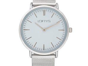 Ρολόι Loftys Corona Ασημί Μπρασελέ Λευκό Καντράν Y2016-9