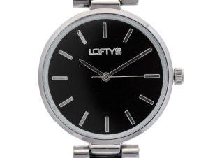 Ρολόι Loftys Kelly με μαύρο μπρασελέ και καντράν Y3409-43