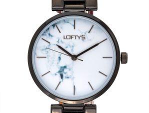 Ρολόι Loftys Kelly με κόκκινο λουράκι και λευκό καντράν Y3409-48
