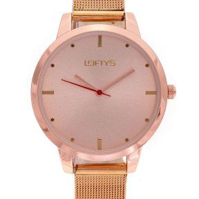 Ρολόι Loftys Andromeda με ροζ χρυσό μπρασελέ και καντράν Y3412-23